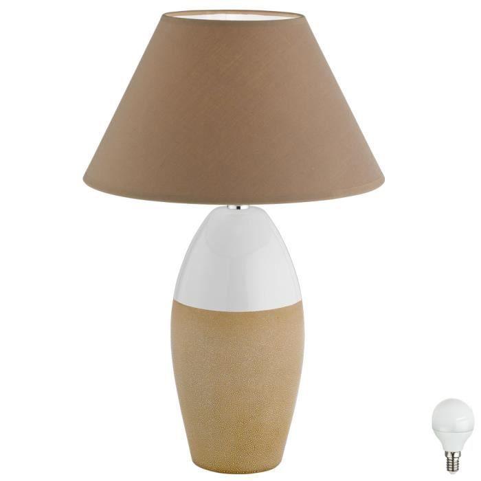 Table Lecture Lampe De Travail Chambre Veilleuse Projecteur Bureau Lampe Textile Gris