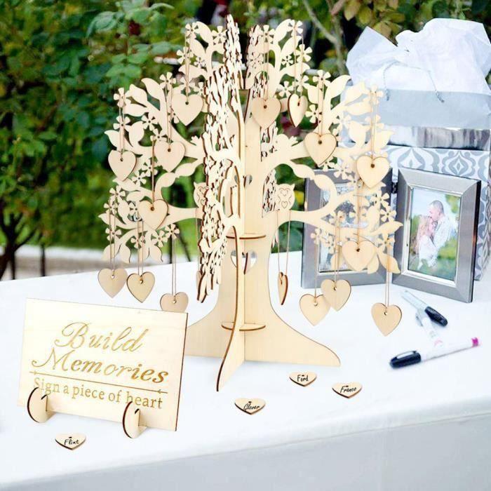 Rustique En Bois Mariage Livre d/'or signe visite Guest SIGNE Fête Baby Shower Décoration