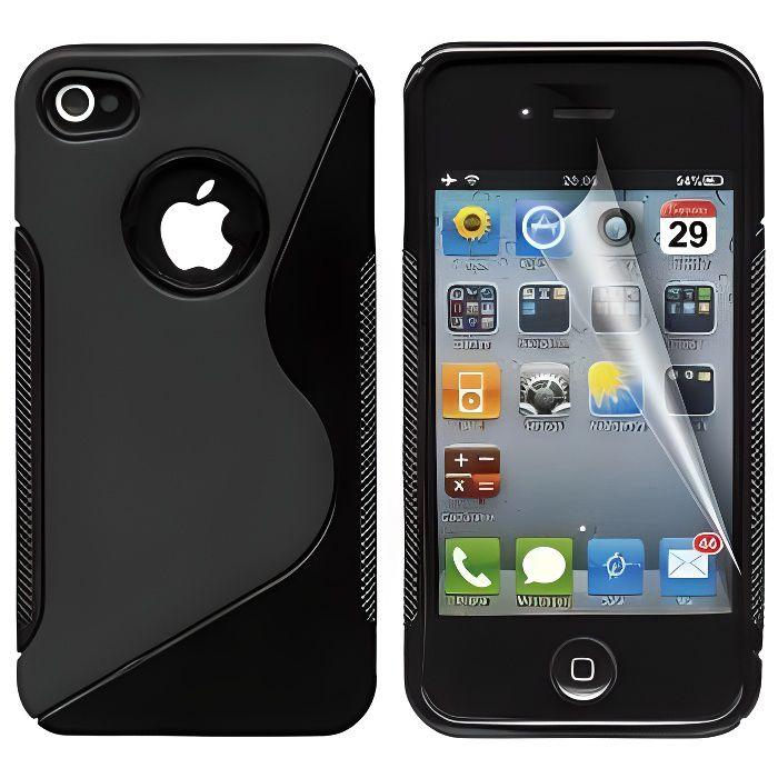 coque iphone 4 4s protection minigel s line noi