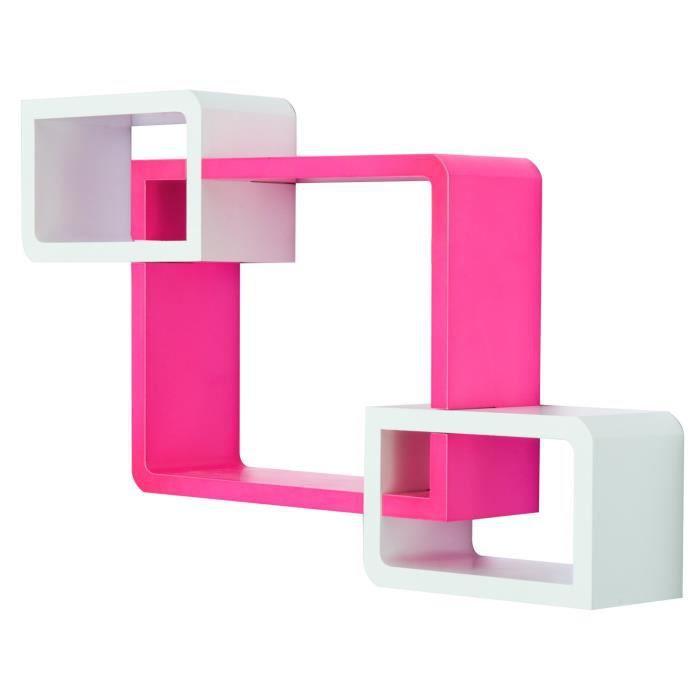 contemporain de lot Etagères 3 cubes design étagères murales ulc35TK1JF