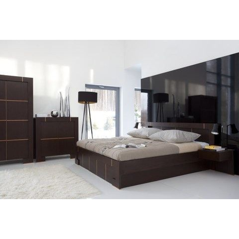 lit double moderne b 140 x 200 cm avec tiroir achat. Black Bedroom Furniture Sets. Home Design Ideas