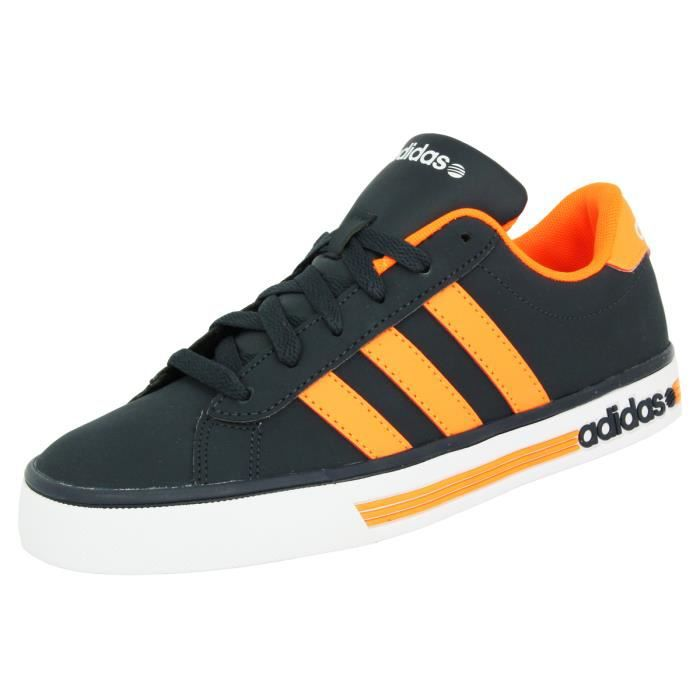 Adidas Neo DAILY TEAM Chaussures Mode Sneakers Homme Bleu Orange ...