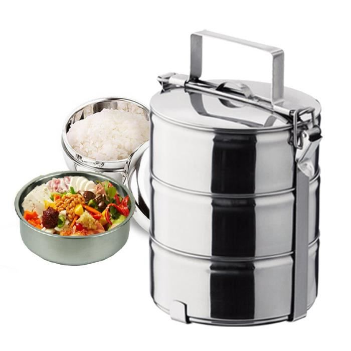 Lunch Box Inox : tellier lunch box bo te fricot inox 3 tages achat ~ Premium-room.com Idées de Décoration