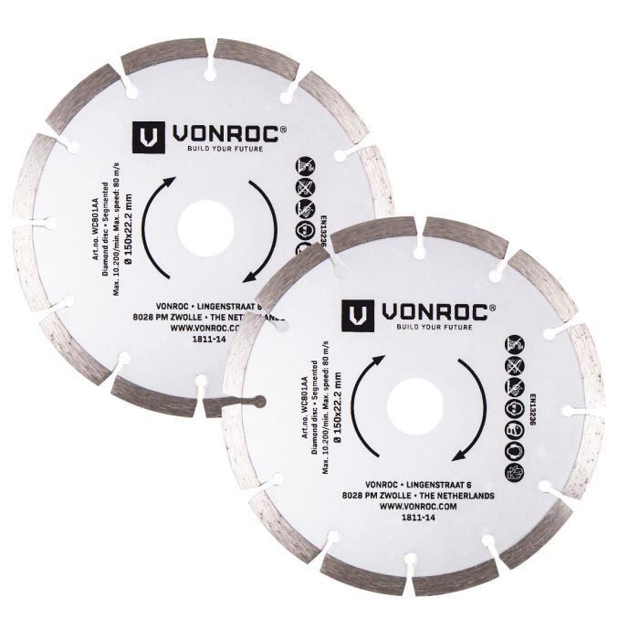 85 x 10 mm Einhell Accessoire Jeu de 6 disques 2 x disques diamant 2 x...