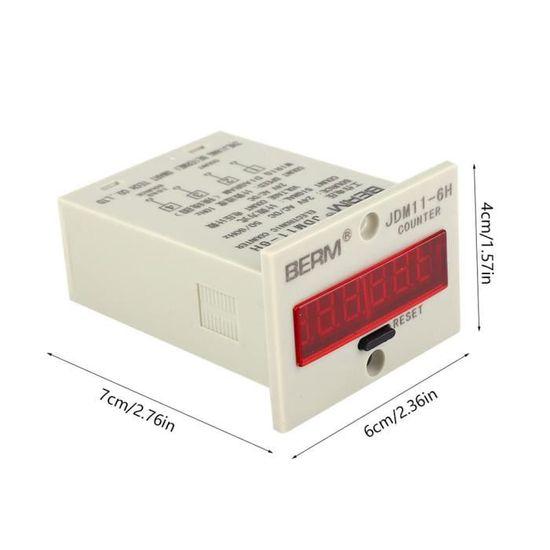 sourcing map JDM11-5H Compteur 5 digits LED Afficheur Compteur num/érique 24v