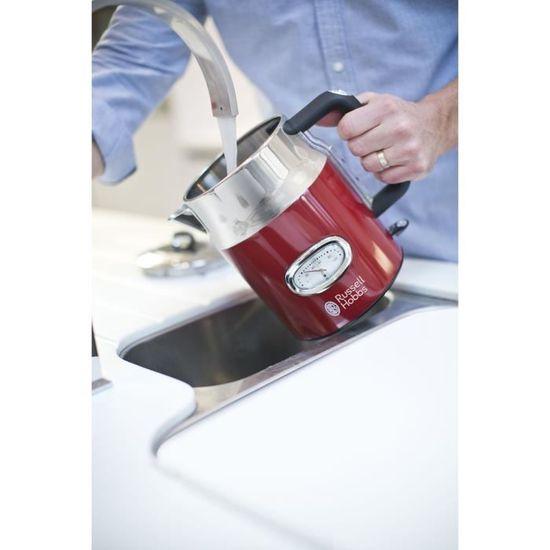 1.7 L RUSSELL HOBBS RETRO 21670 Verseuse Bouilloire-Rouge 3000 W acier inoxydable