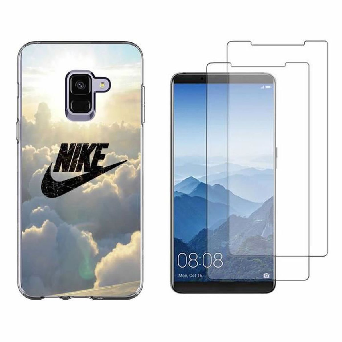 really comfortable sells a few days away Coque Samsung Galaxy A8 2018,Nuage Nike TPU Housse Étui Pour ...