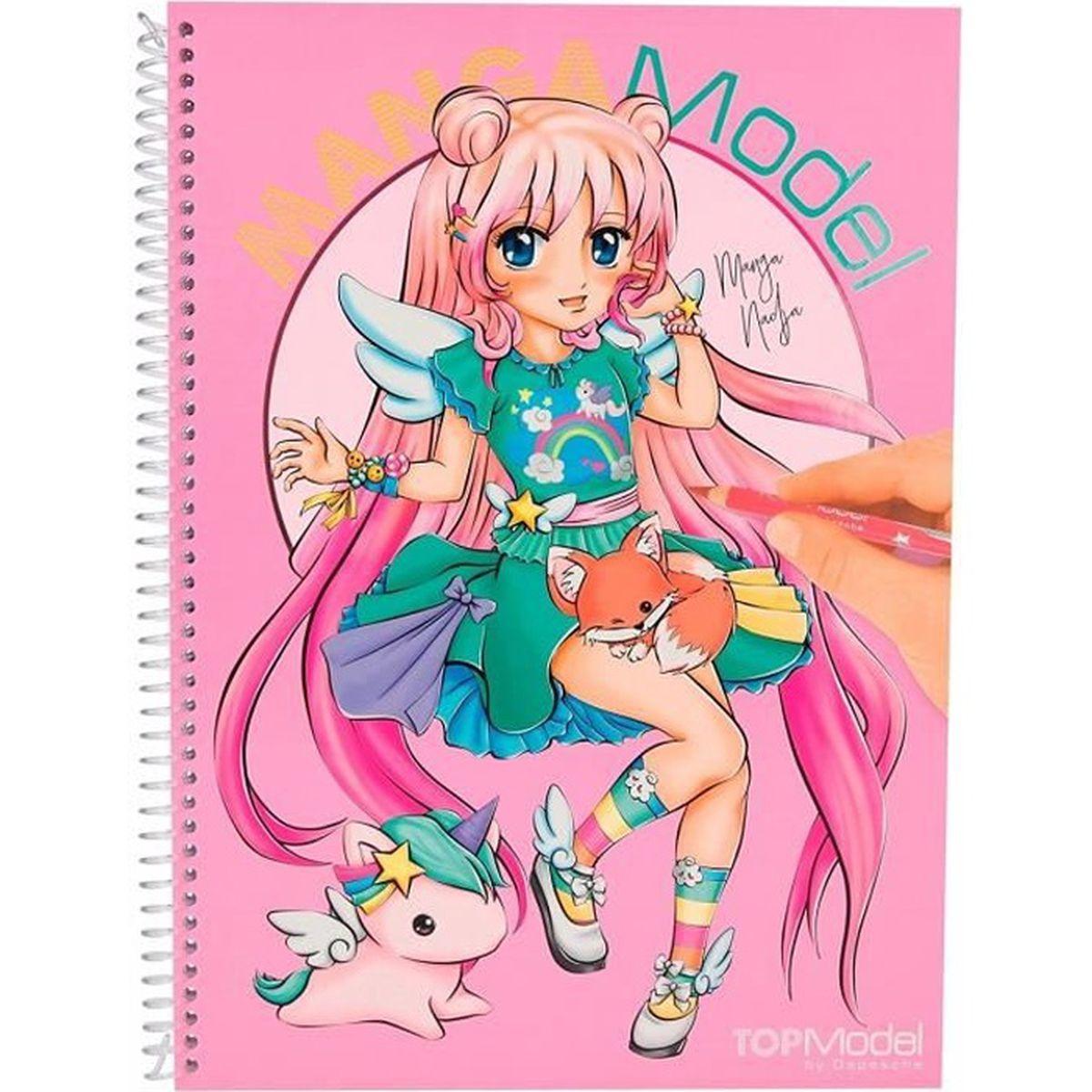 Coloriage Manga Achat Vente Pas Cher