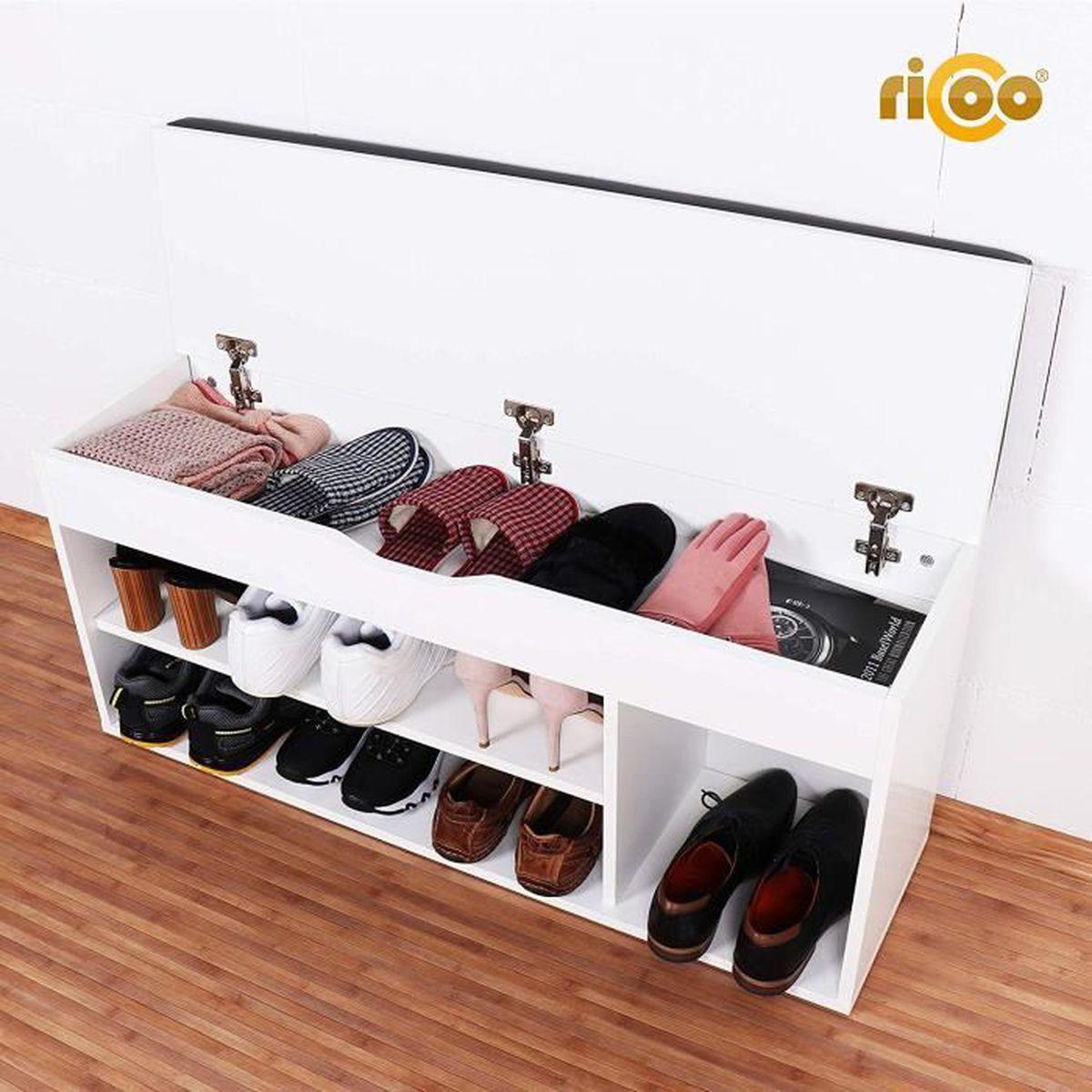 Meuble Rangement Chaussures Entree meuble de rangement pour chaussure wm034-w-a banc armoire