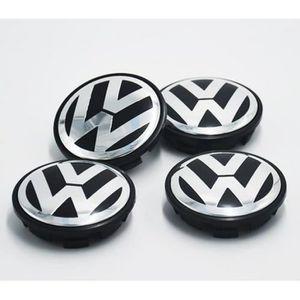 VW Wheel Caps 65 mm 4x-Noir /& Chrome-Transporteur de modèles