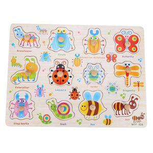 JOUET ♥Eiffel Bébé Jouets Montessori Puzzle En Bois Main