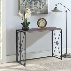 CONSOLE Table console pliante, table d'entrée en bois sans