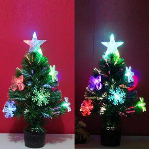 VILLAGE - MANÈGE Arbre de Noël artificiel LED lumières multicolores