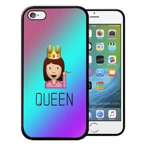COQUE - BUMPER Coque Iphone 5 5S  Emoji Queen Swag Vintage Etui H