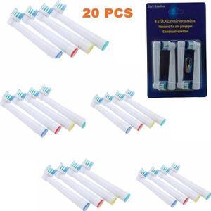 BROSSETTE 20pcs Remplacement Brosse à dents électrique Têtes