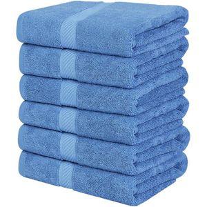 Premier Linens Lot de 12 Serviettes de Toilette Bleu Marine