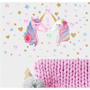 Little pony unicorn horse kids citer mur autocollant art chambre amovible décalques diy