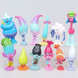 FIGURINE - PERSONNAGE LOT 12 FIGURINES TROLLS JOUET PERSONNAGE POPPY BRA
