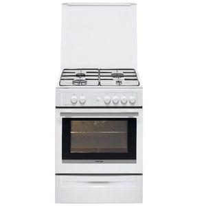 CUISINIÈRE - PIANO Brandt - cuisinière gaz 55l 4 feux blanc - bcg6610