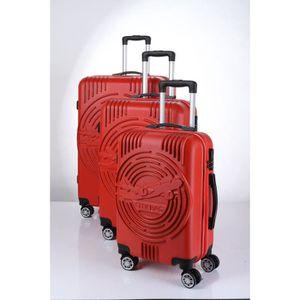 SET DE VALISES CITY BAG Set de 3 Valises Trolley ABS 4 Roues Roug