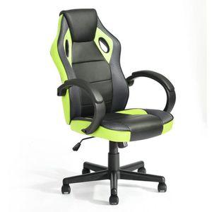CHAISE DE BUREAU Homy Casa Chaise de Bureau PVC Fauteuil Gaming Hau