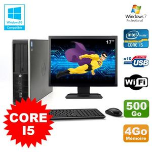 UNITÉ CENTRALE + ÉCRAN Lot PC HP Elite 8200 SFF Core I5 3.1GHz 4Go 500Go