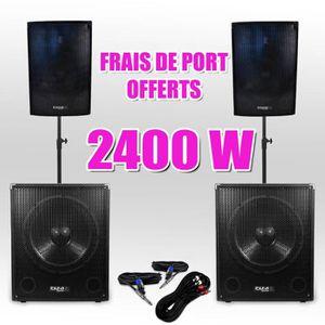 PACK SONO Pack 151510 Sonorisation 2400W Caisson bi-amplifié