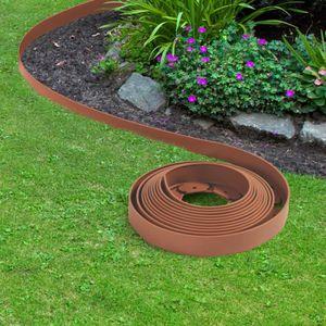 BORDURE Bordurette de jardin flexible terracotta 10M avec