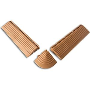 DALLAGE Bordure pour dalles de terrasse en bois composite