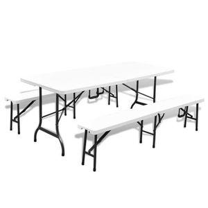 Table de jardin pliable avec banc