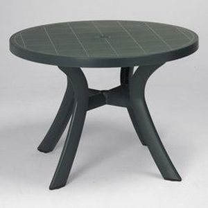 table ronde verte o 100 cm bergame achat vente table. Black Bedroom Furniture Sets. Home Design Ideas