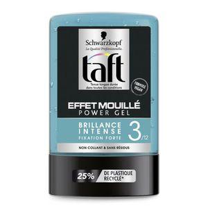 LAQUE FIXATRICE - SPRAY TAFT Gel coiffant Effet Mouillé Power Gel - 300ml