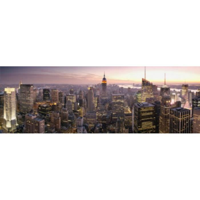 New york poster de porte city lights 53 x 158 cm new for Decoration porte new york