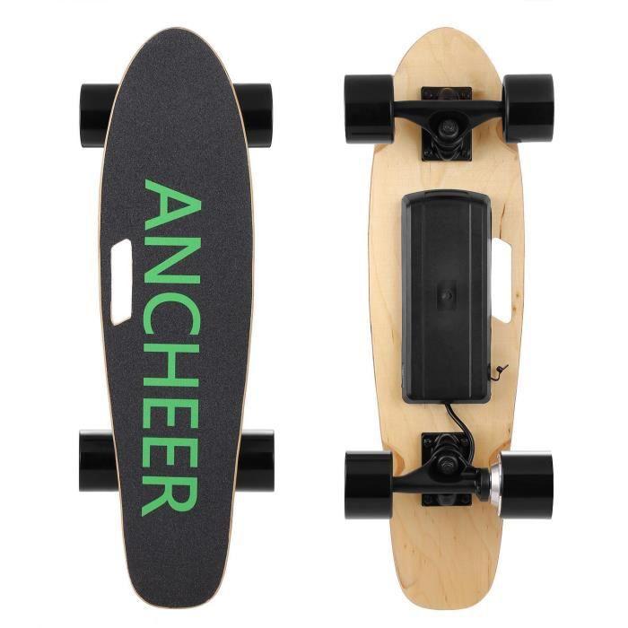 ANCHEER Skateboard Électrique Longboard Planche à roulettes avec télécommande