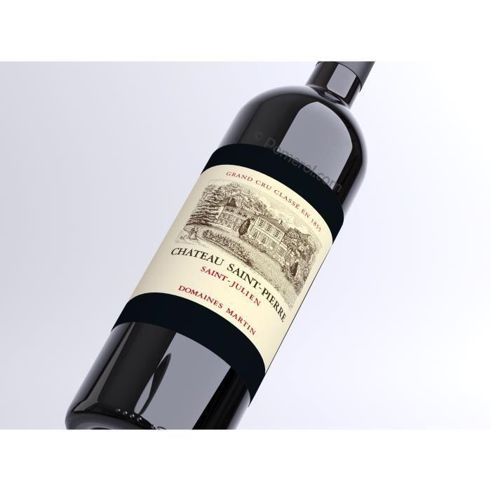 X6 Château Saint-Pierre 2017 - AOC Saint-Julien - 4ème Cru Classé - vin rouge - Bouteille (0,75cl)