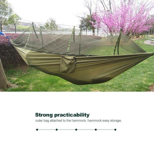 Moustiquaire extérieure hamac léger parachute en tissu double hamac miettelove@0693