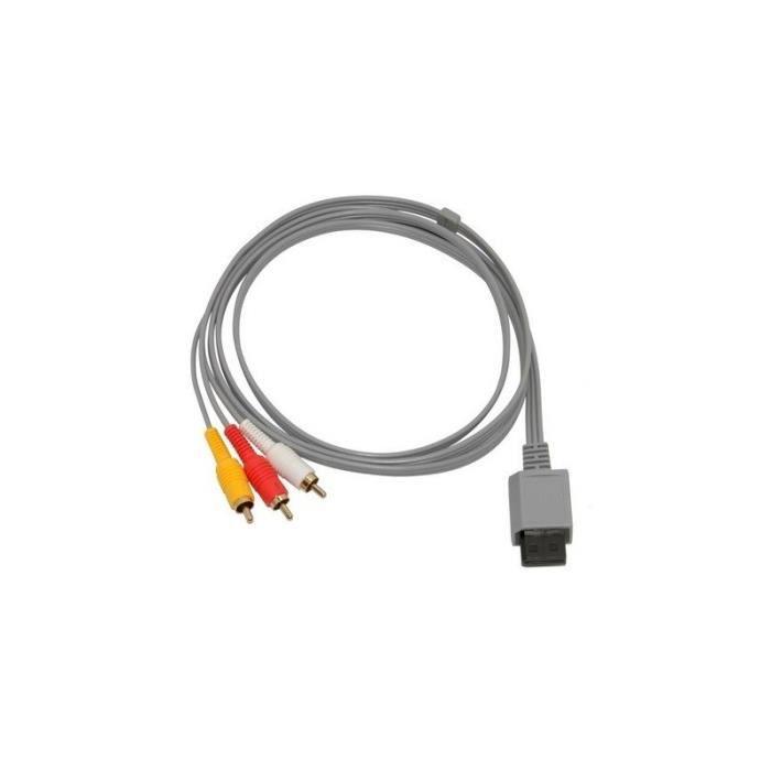 Cable AV pour Console Wii, Wii U envoi en SUIVI -