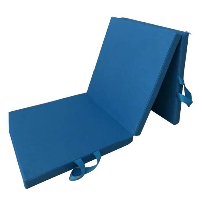 Tapis de sol d'exercice pliable Dance Yoga Gymnastics Training Mat pour Home Judo Pilates Gym 180x60x5cm (Blue)