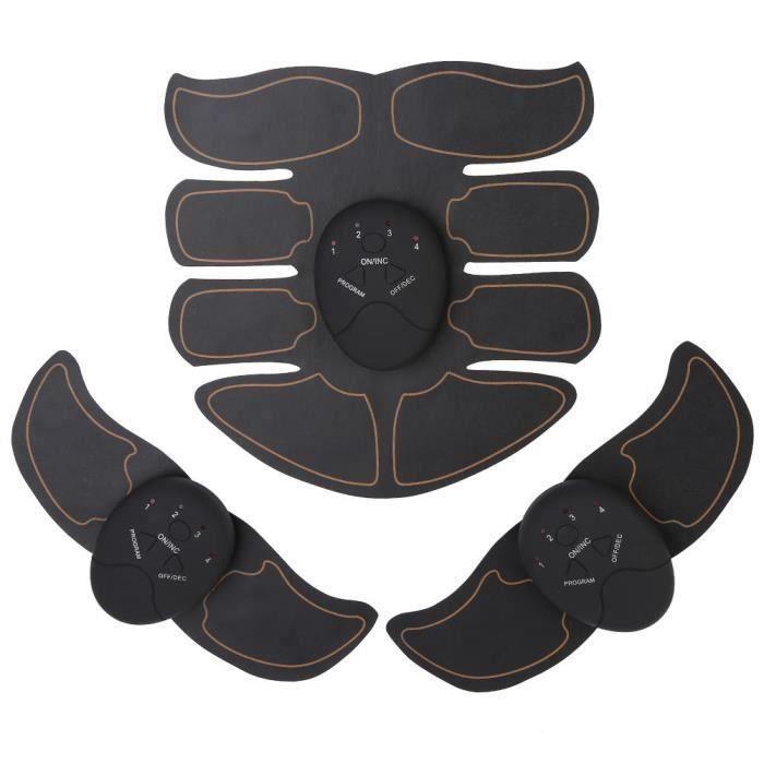 DBA Appareil abdo planche abdo abdomen training patch (noir + orange)