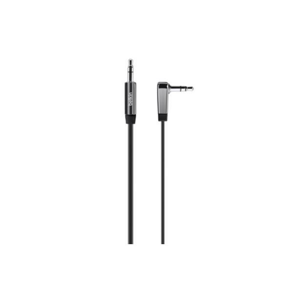 BELKIN câble jack 3.5mm coudé noir