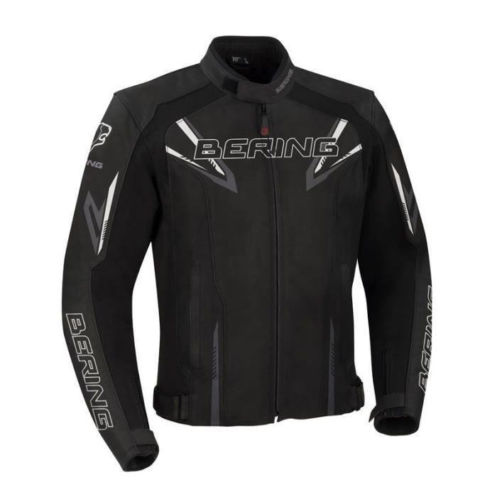 BERING Blouson moto Skope - Homme - Noir et gris