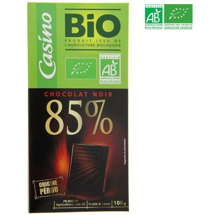 Choc nr perou dg.85% 100g co bio