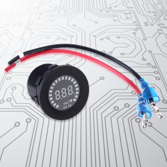 12V mini Numérique Voltmiètre LED pour moto Voiture allume cigare - prise allume-cigare confort conducteur passager
