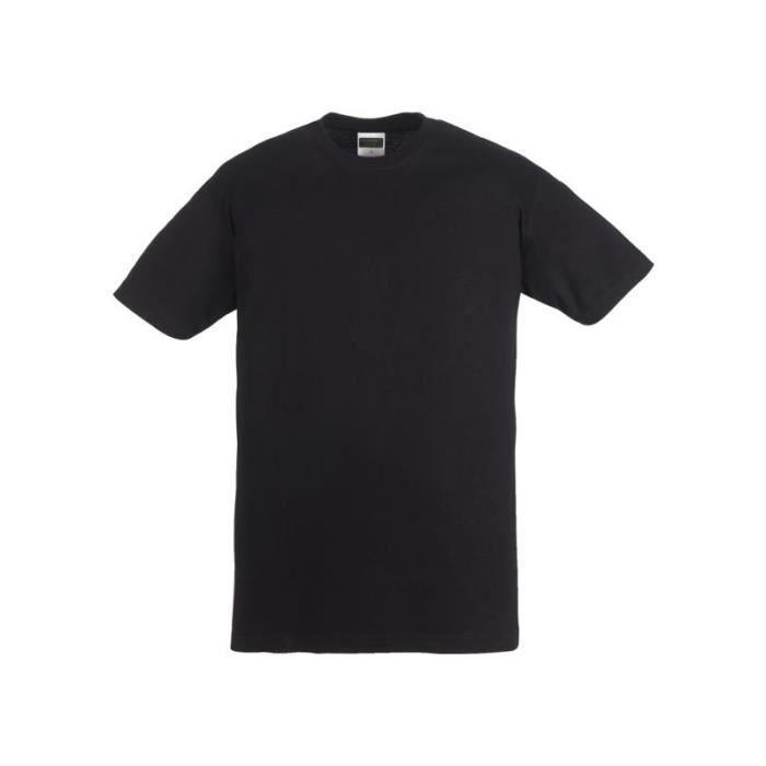 Tee shirt 100 % coton noir 150 grs-m² - taille xxl ou 56-58