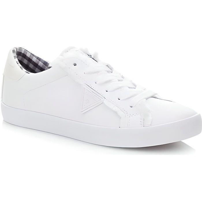 Guess Baskets Femme Tiger Blanc