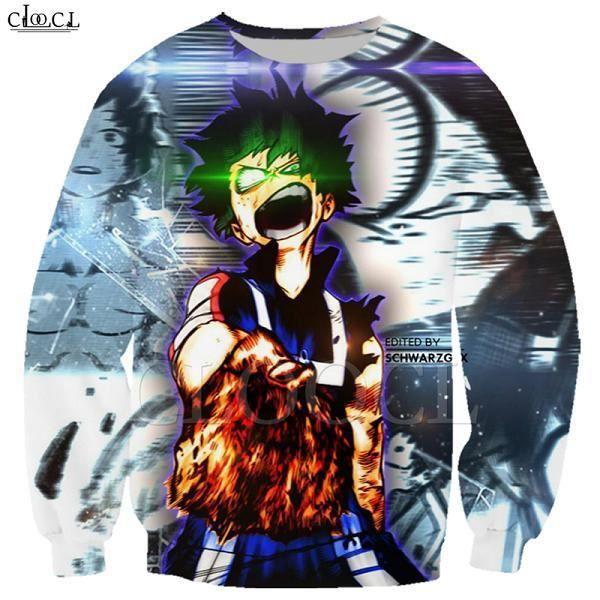 Sweat-shirt imprimé 3D homme,Sweat-shirt animé pour filles Toga Himiko My Hero academy, avec avertissement imprimé 3D, pour hommes