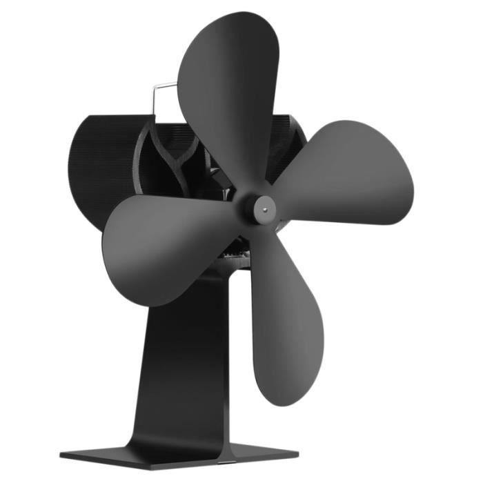 Ventilateur de poêle à bois à 4 pales à fonctionnement silencieux autonome ventilateur de cheminée CUISINIERE - PIANO DE CUISINE