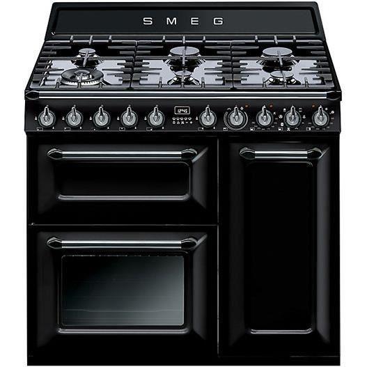 Cuisinière SMEG TR93BL - 90 cm - Noire - 6 foye…