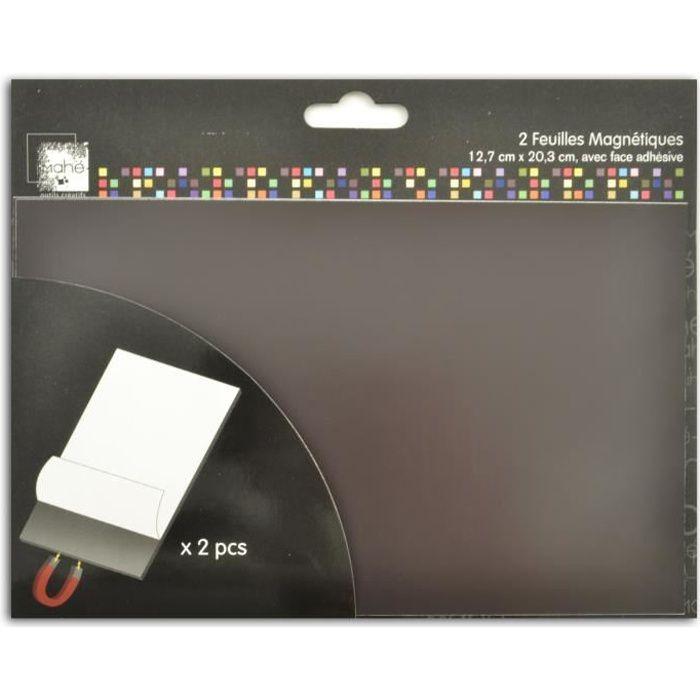 TOGA Feuilles adhésives magnétiques – 127 x 203 mm