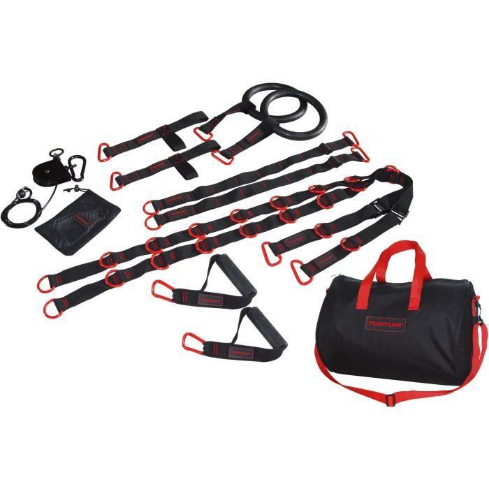TUNTURI Kit accessoires et sangles crossfit trainer matériel musculation noir